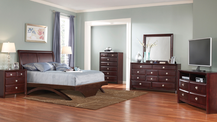 Aurora Bedroom Set with Platform Bed