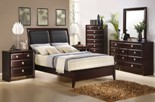 AURORA Leather Sleigh Bed